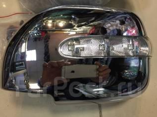 Накладка на зеркало. Toyota Land Cruiser, FZJ100, HDJ100, HDJ100L, J100, UZJ100, UZJ100L, UZJ100W