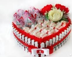 Букет конфет Рафаэло день святого валентина восьмое марта 14 февраля