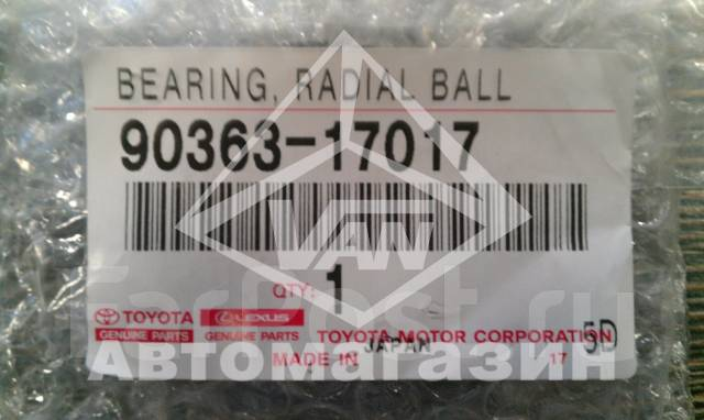 Подшипник генератора. Toyota: Corona, Windom, Lite Ace, Aristo, Ipsum, iQ, Corolla, Tundra, Dyna, Vista, Tarago, Lite Ace Truck, Sienta, Corolla Axio...