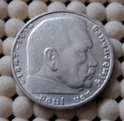 Германия 2 марки 1939г. (D) Ag 625