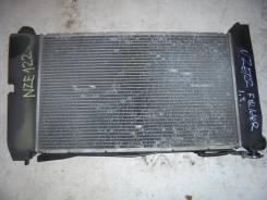 Радиатор охлаждения двигателя. Toyota Corolla Fielder, ZZE122 Двигатель 1ZZFE