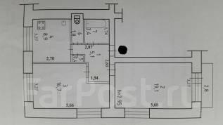 2-комнатная, переулок Дворцовый 8. Ленинский округ, частное лицо, 56 кв.м.