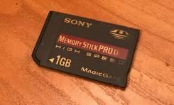 Memory Stick PRO Duo. 1 Гб, интерфейс memory stick pro duo