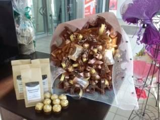 Букет конфет рафаэлло день святого Валентина восьмое марта 14 февраля