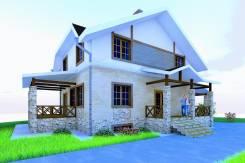 037 Zz Двухэтажный дом в Куйбышеве. 100-200 кв. м., 2 этажа, бетон