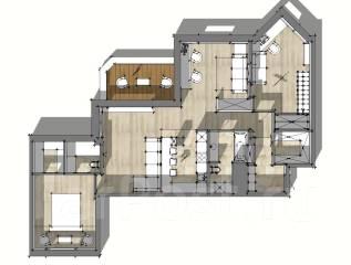 4-комнатная, улица Чкалова 5. Вторая речка, частное лицо, 120 кв.м. План квартиры