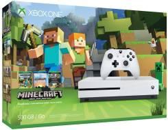 Игровая приставка Microsoft Xbox One S 500 ГБ + Видеоигра Minecraft