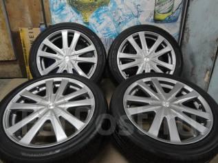 Продам Редкие Стильные колёса Elanza+Лето Жир215/45R17Toyota, Subaru, HO. 7.0x17 5x100.00, 5x114.30 ET55