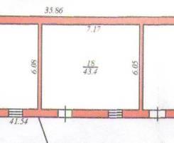 Теплый сухой склад в центре недорого 43кв. м и 80кв. м. 43 кв.м., улица Тимирязева 29, р-н центр