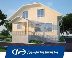 M-fresh Positive plus (Посмотрите проект красивого дома с мансардой! ). 200-300 кв. м., 2 этажа, 4 комнаты, бетон