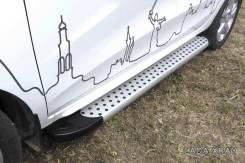 Накладка на подножку. Chevrolet Niva Chevrolet TrailBlazer Kia Sportage Toyota Hilux Toyota Land Cruiser Toyota Highlander Toyota Venza Suzuki Grand V...