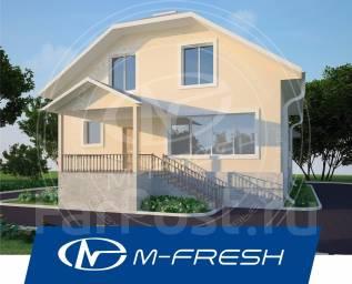 M-fresh Positive plus (Посмотрите проект красивого дома с мансардой! ). 200-300 кв. м., 1 этаж, 4 комнаты, комбинированный