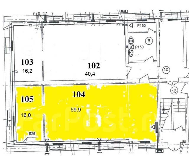 Помещение под офис/ учебный класс, 75,9 м2. 75кв.м., улица Административный Городок 1, р-н Центральная площадь. План помещения