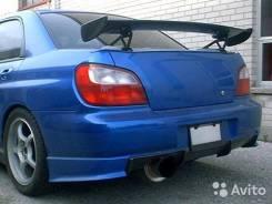 Накладка на бампер. Subaru Impreza