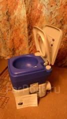 Продам компактный био туалет. Полностью герметичный.18л.
