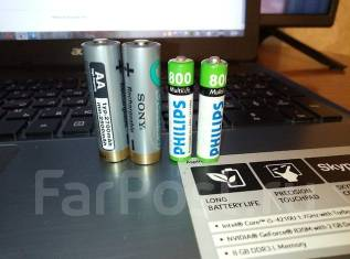 Одним лотом 4 батарейки АА-2 шт, ААА- 2 шт