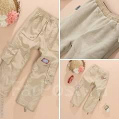 Новые штаны на весну-осень, р. 122, на флисе, спереди типа плащевка. Рост: 122-128 см