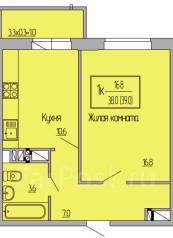 1-комнатная, улица Московская 123. агентство, 40 кв.м.