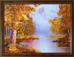 Картина, украшенная янтарем