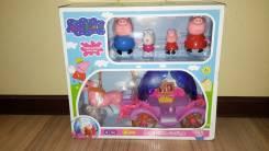 Свинка Пеппа с родителями и друзьями! Музыкальная карета! С рубля!