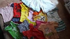 Лот платьев и футболочек на девчушку. Рост: 80-86, 86-98 см