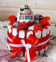 Торт из киндер сюрпризов подарок к 8 марта
