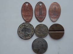 Подборка из 7 жетонов. Без повторов! Торги с 1 рубля!