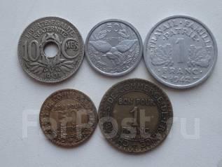Старая Франция подборка из 5 монет. Без повторов! Торги с 1 рубля!