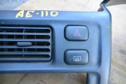 Кнопка включения аварийной сигнализации. Toyota Corolla, AE114, CE110, CE114, AE112, AE110, AE111, EE110, EE111 Toyota Sprinter, CE110, AE114, AE111...