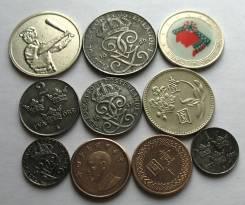 10 Иностранных Монет и Жетонов 24