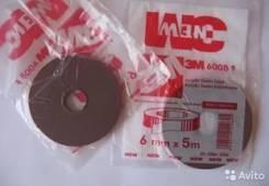 3М Скотч двухсторонний 6 мм х 5м толщина 0,8 мм; штука