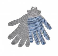 Перчатки хлопчато-бумажные серые; пара