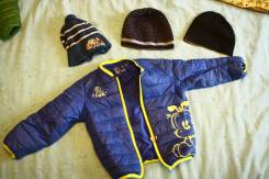 Куртки на мальчика и шапки с рубля. Рост: 86-98, 98-104 см
