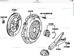 Корзина сцепления. Toyota: 4Runner, Hiace, Hilux, Regius Ace, Land Cruiser, Dyna, Land Cruiser Prado, Toyoace, T.U.V, Quick Delivery, Hilux / 4Runner...