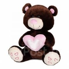 Мишка Влюбленный коричневый 22 см. Под заказ