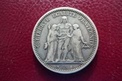 5 франков 1873 года! Серебро