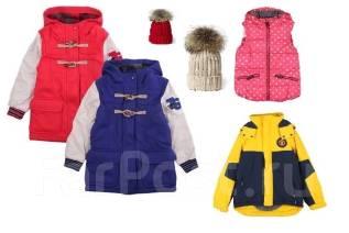Корейские весенние куртки, пальто и шапки на рост 120-160 см