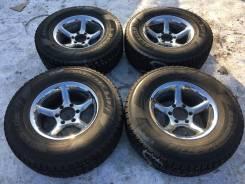Японские Жирные Зимние шины Dunlop Grandtrek 265/70/16+Хром 6*139.7. 8.0x16 6x139.70 ET0 ЦО 110,0мм.