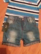 Шорты джинсовые. Рост: 110-116, 116-122 см