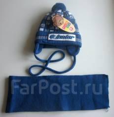 Шапка и шарф. Рост: 74-80, 80-86 см