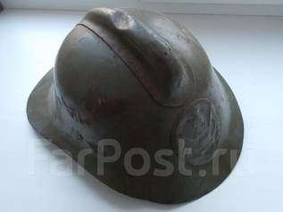 Антикварная каска пожарного СССР. Оригинал