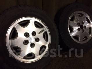 Комплект колес на Subaru резина практически новая диски в подарок. 6.0x14 5x100.00 ET45