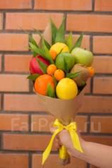 Изготавливаем фруктово-цветочные, овощные, колбасные букеты, корзины