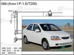 Радиатор двигателя Daewoo Kalos 2009- (T200, T250) (gas 1.6) (PA)
