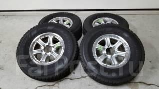 Почти без износа отличные Dunlop SJ7 265/70/16 на литье Weds 26/7/16. 7.0x16 6x139.70 ET26