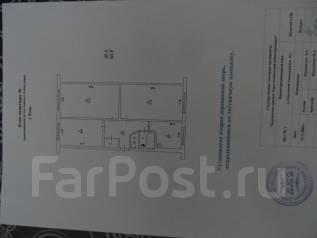 3-комнатная, улица Терешковой 1. бам , агентство, 62 кв.м. План квартиры