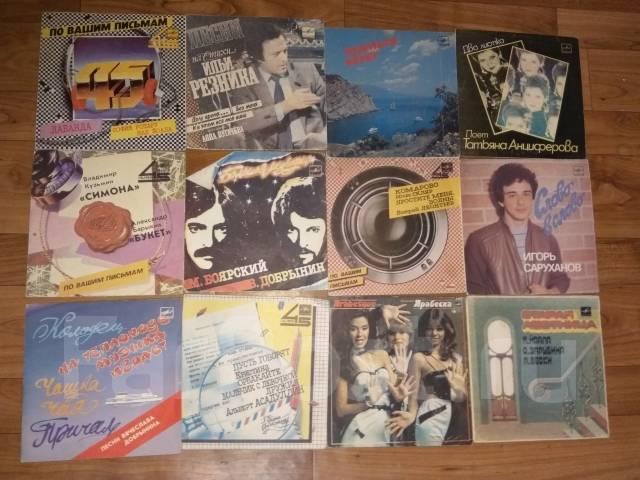 Аудио кассеты, пластинки, бабины