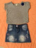 Платья джинсовые. Рост: 86-98, 98-104 см