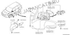 Зеркало заднего вида боковое. Subaru Forester, SHJ Двигатель FB20B