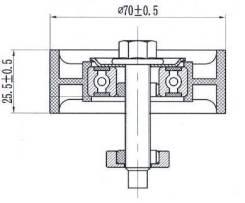 Обводной ролик приводного ремня FORD FOCUS/MAVERICK/MAZDA TRIBUTE 2,0